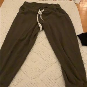 Aerie army green joggers